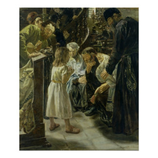 The Twelve-Year-Old Jesus in the Temple, 1879 Poster