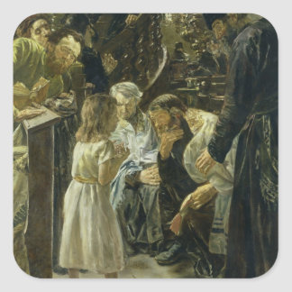 The Twelve-Year-Old Jesus in the Temple, 1879 Square Sticker