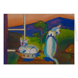 The Twevils - Pinky & Bleu Notecard