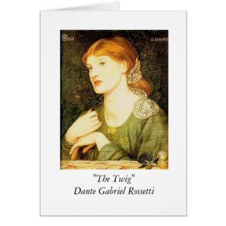 """The Twig"" - Dante Gabriel Rossetti Card"