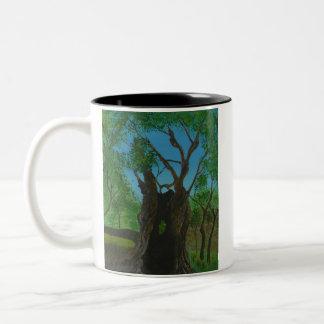 The Twins at Gethsemane Two-Tone Coffee Mug