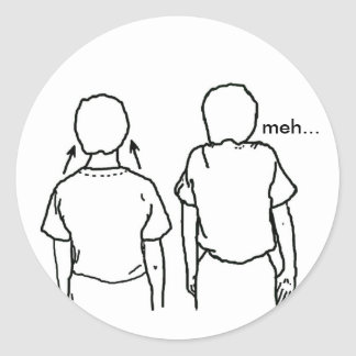 The twins of indifference classic round sticker
