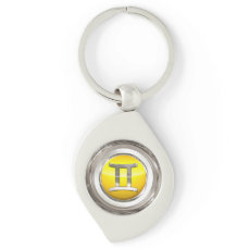 The Twins Zodiac Sign Keychain