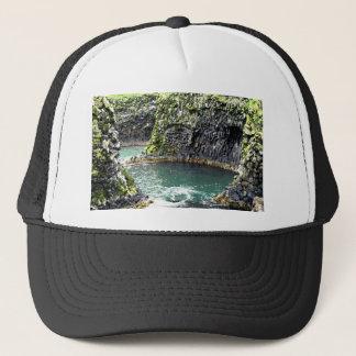 The twirling sea trucker hat