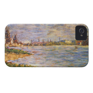 The two banks by Georges Seurat Case-Mate iPhone 4 Cases