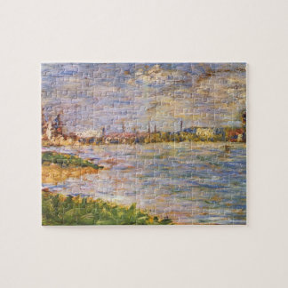 The two banks by Georges Seurat Jigsaw Puzzles