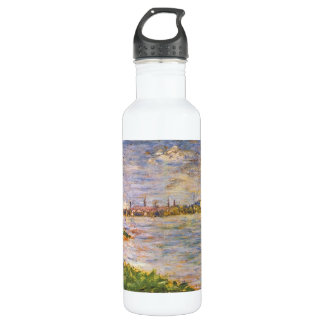 The two banks by Georges Seurat Stainless Steel Water Bottle
