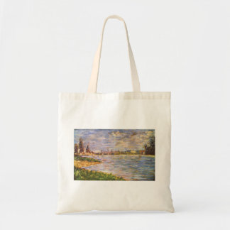 The two banks by Georges Seurat Tote Bag