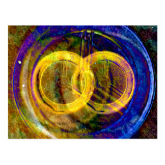the two circles post card