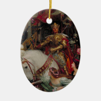 The Two Crowns [Sir Frank Dicksee] Christmas Tree Ornament