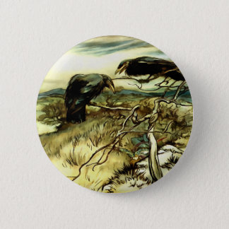 The Two Crows Pinback Button