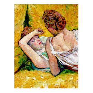 The Two Friends by Henri de Toulouse-Lautrec Post Cards