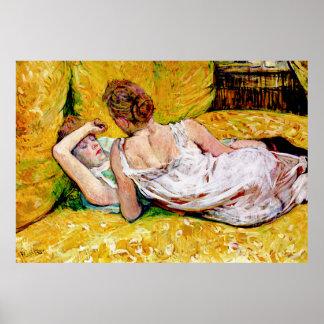 The Two Friends by Henri de Toulouse-Lautrec Poster
