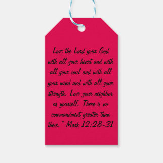 The Two Greatest Commandments Gift Tags