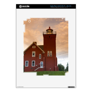 The Two Harbors Lighthouse overlooking Agate Bay iPad 3 Decal