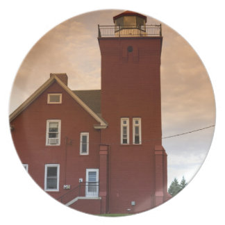 The Two Harbors Lighthouse overlooking Agate Bay Dinner Plates