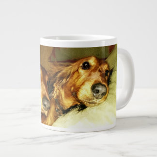 The Two Longhaired Dachshunds Wraparound Giant Coffee Mug