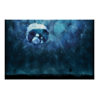 The Two on The Moon Print