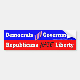 The two party system! car bumper sticker