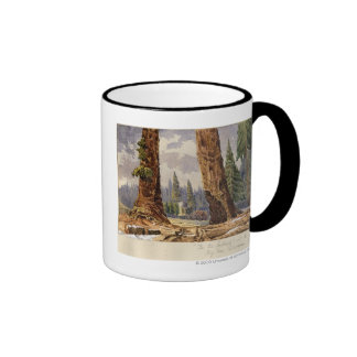 The Two Sentinels, at the Grove of Big Trees Ringer Coffee Mug