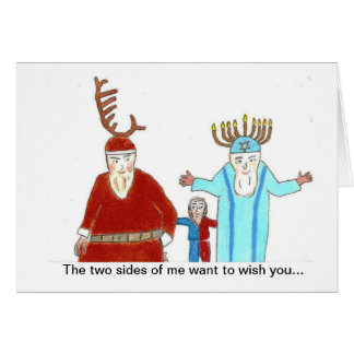 The two sides of me greeting card