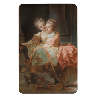 The Two Sisters - Jean-Honoré Fragonard Rectangular Photo Magnet