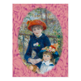 The Two Sisters on the Terrace by Renoir Postcard