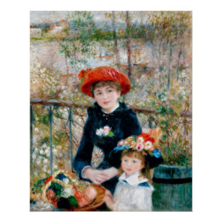 The Two Sisters On the Terrace Renoir Poster