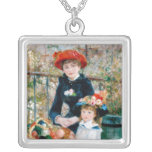 The Two Sisters, On the Terrace, Renoir Square Pendant Necklace