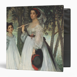The Two Sisters: Portrait, 1863 3 Ring Binder