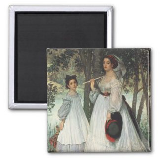 The Two Sisters: Portrait, 1863 Magnet