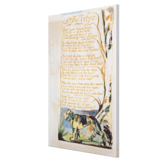 The Tyger, from Songs of Innocence Canvas Print