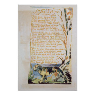 The Tyger, from Songs of Innocence Poster