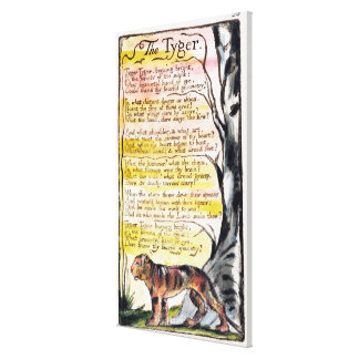 'The Tyger', plate 36 (Bentley 42) from 'Songs of Canvas Print