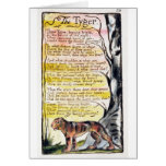 'The Tyger', plate 36 (Bentley 42) from 'Songs of Greeting Cards