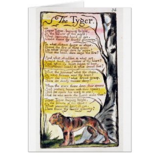 'The Tyger', plate 36 (Bentley 42) from 'Songs of Card