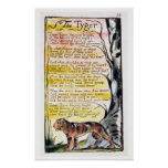 'The Tyger', plate 36 (Bentley 42) from 'Songs of Poster