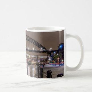The Tyne Bridge at night Coffee Mug