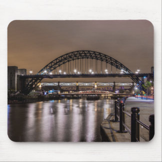 The Tyne Bridges at Night Mouse Pad