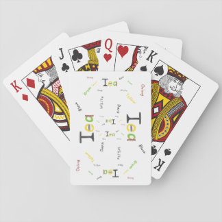The Types of Tea Playing Cards