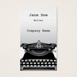 The Typewriter Business Card
