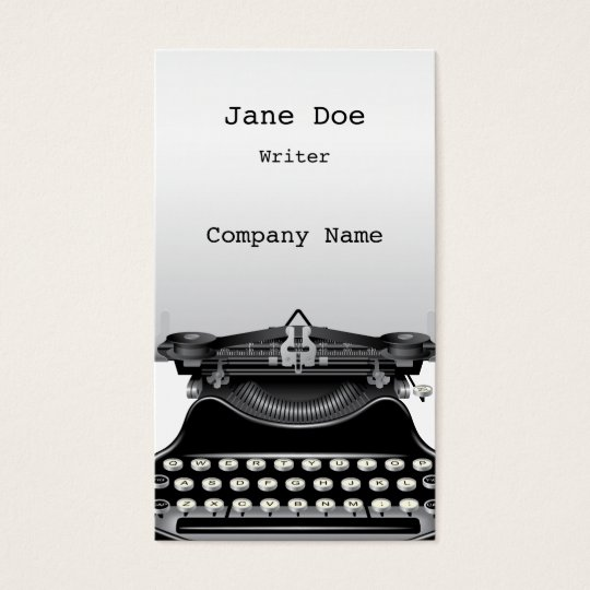 The typewriter business card zazzle the typewriter business card reheart Choice Image