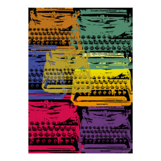 the typewriter - dark poster