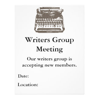 the typewriter - flyer