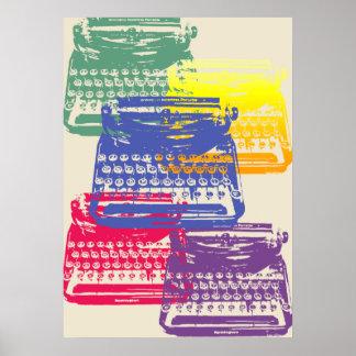 the typewriter - light poster