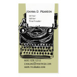 The Typewriter  Writer  Editor Click  CUSTOMIZE Business Card Templates