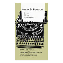 The Typewriter  Writer  Editor Click  CUSTOMIZE Double-Sided Standard Business Cards (Pack Of 100)