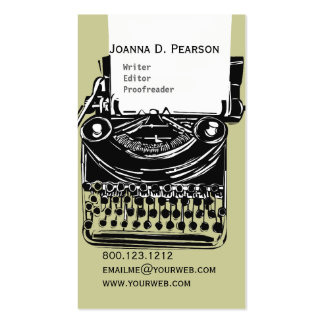 The Typewriter  Writer  Editor Click  CUSTOMIZE Business Card