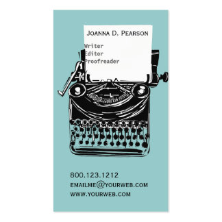 The Typewriter  Writer  Editor Publishing Double-Sided Standard Business Cards (Pack Of 100)