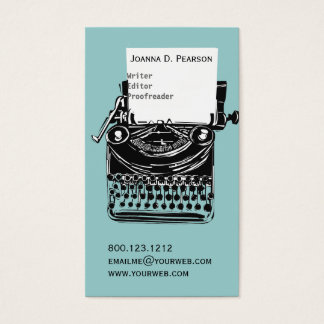 The Typewriter  Writer  Editor Publishing Business Card